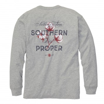 Nothing Says Southern- Heather Grey Long Sleeve